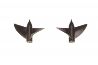 Two bladed supercavitation propellers